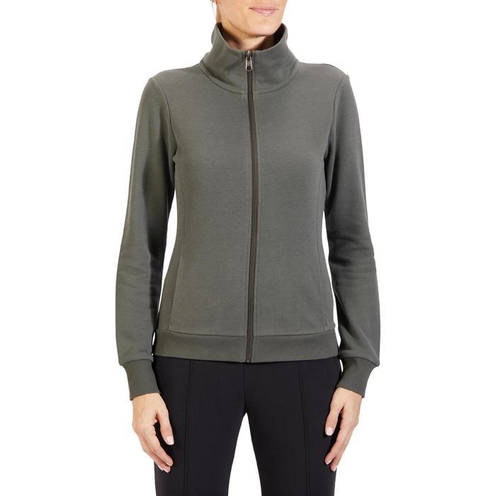 Veste 500 Gym & Pilates femme sans capuche zippée - 1318204
