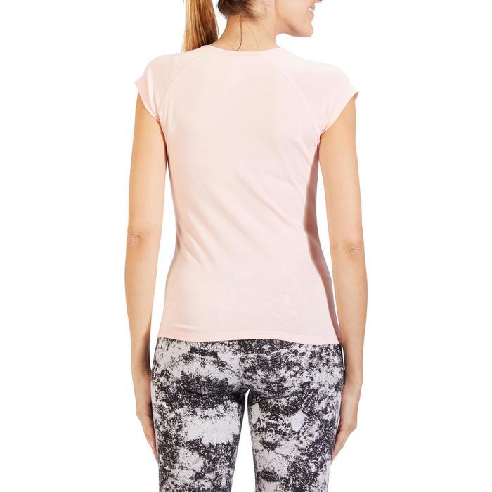 500 Women's Slim-Fit Stretching T-Shirt - Black - 1318209