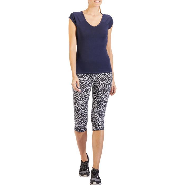 500 Women's Slim-Fit Stretching T-Shirt - Black - 1318216