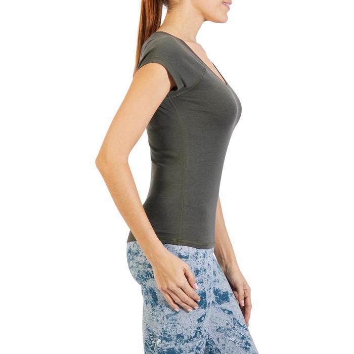 500 Women's Slim-Fit Stretching T-Shirt - Black - 1318217