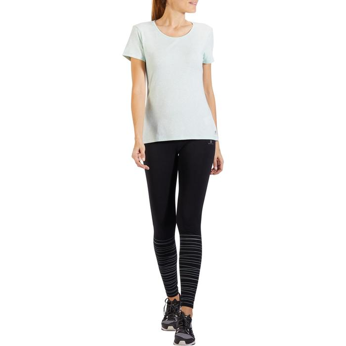 T-Shirt 500 régular manches courtes Gym & Pilates femme chiné - 1318219