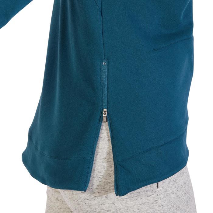 Sweat-shirt 900 Gym & Pilates Femme capuche bleu glacier - 1318220