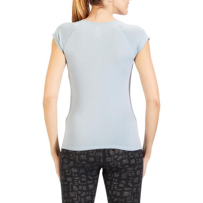 500 Women's Slim-Fit Stretching T-Shirt - Black - 1318224