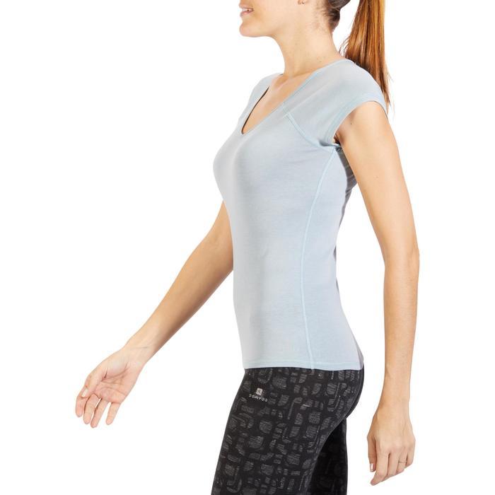 500 Women's Slim-Fit Stretching T-Shirt - Black - 1318232