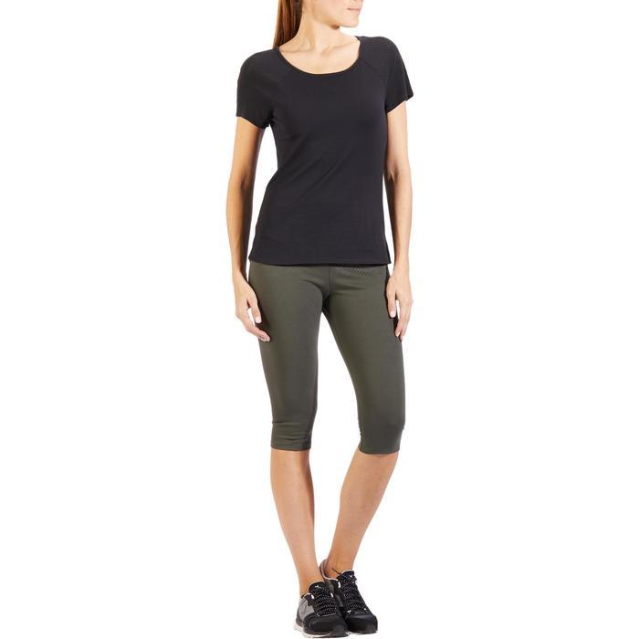 T-Shirt 900 manches courtes Gym & Pilates femme noir