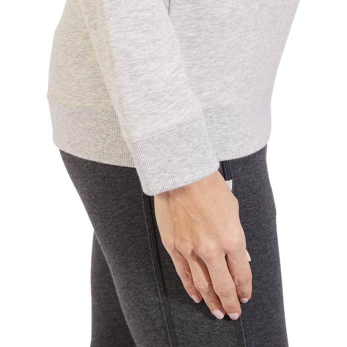 Sudadera 500 Pilates y Gimnasia suave mujer gris claro jaspeado