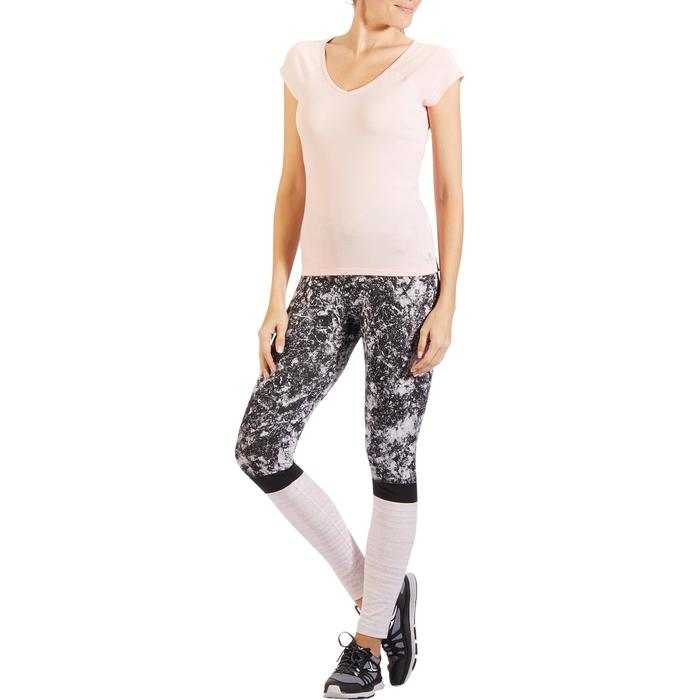 500 Women's Slim-Fit Stretching T-Shirt - Black - 1318254