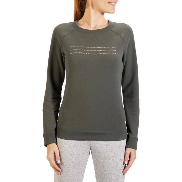 Sweat-shirt 100 Gym & Pilates Femme - 1318256