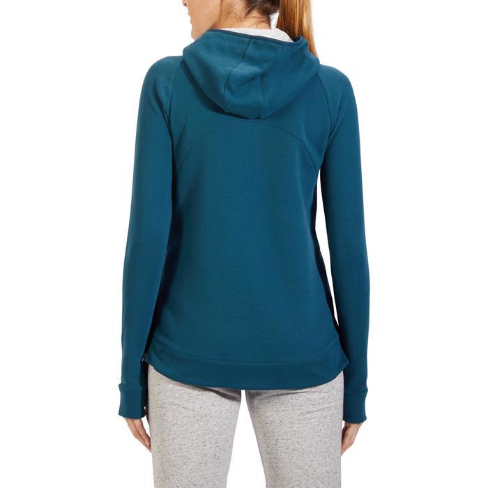 Sweat-shirt 900 Gym & Pilates Femme capuche bleu glacier - 1318261