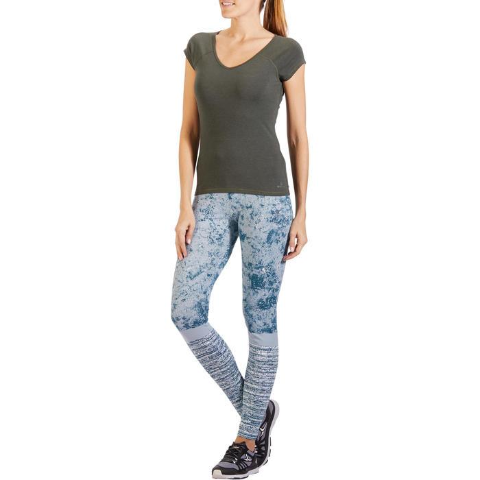 500 Women's Slim-Fit Stretching T-Shirt - Black - 1318264