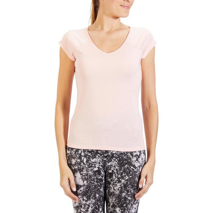 500 Women's Slim-Fit Stretching T-Shirt - Black - 1318280