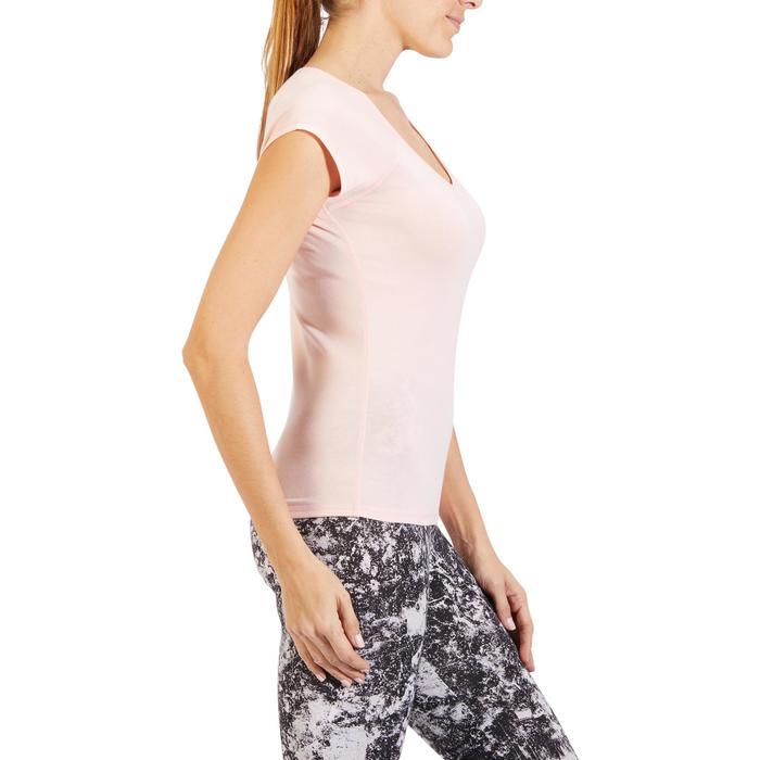 500 Women's Slim-Fit Stretching T-Shirt - Black - 1318282
