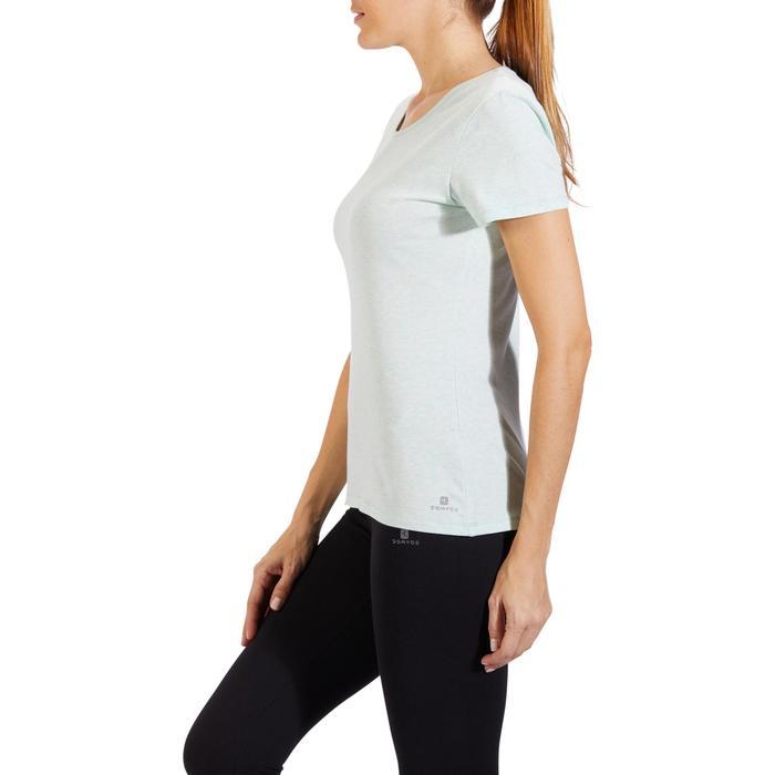 T-Shirt 500 régular manches courtes Gym & Pilates femme chiné - 1318292
