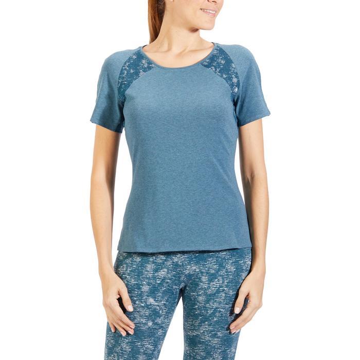 T-Shirt 520 manches courtes Gym & Pilates femme gris chiné clair - 1318301