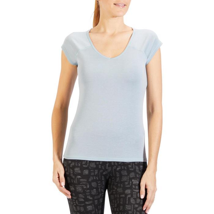 500 Women's Slim-Fit Stretching T-Shirt - Black - 1318304