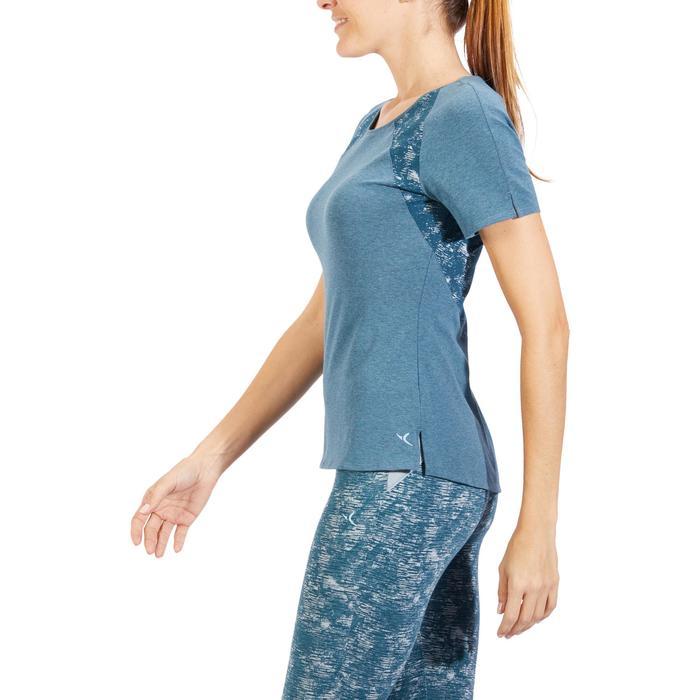 T-Shirt 520 manches courtes Gym & Pilates femme gris chiné clair - 1318312