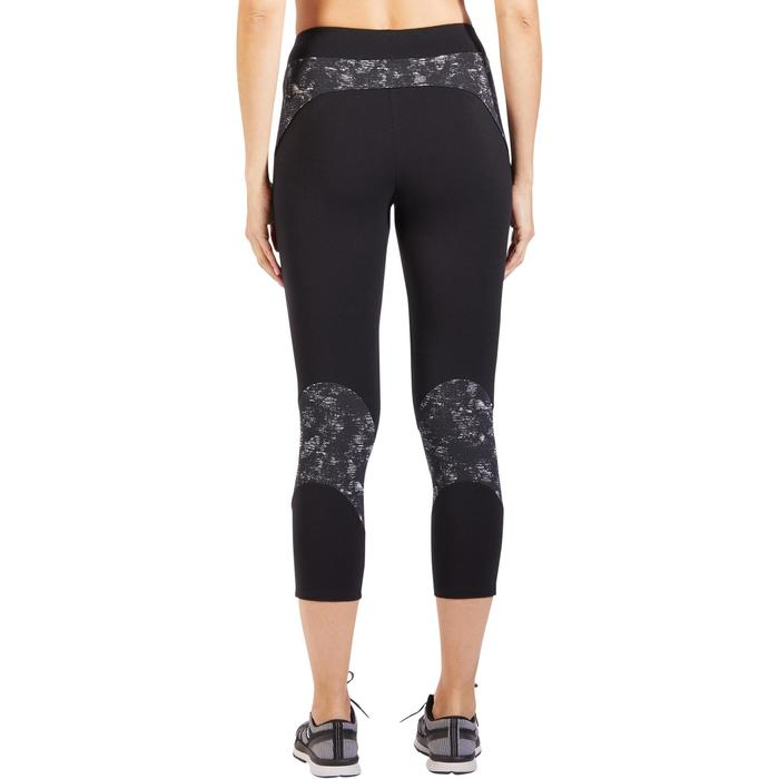 7/8-dameslegging 520 voor gym en pilates, zwart
