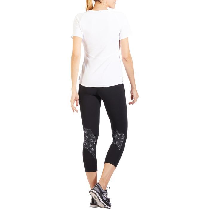 7/8-legging 510 pilates en lichte gym dames zwart met print