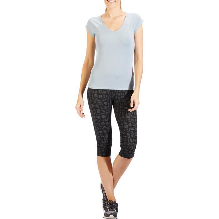500 Women's Slim-Fit Stretching T-Shirt - Black - 1318322