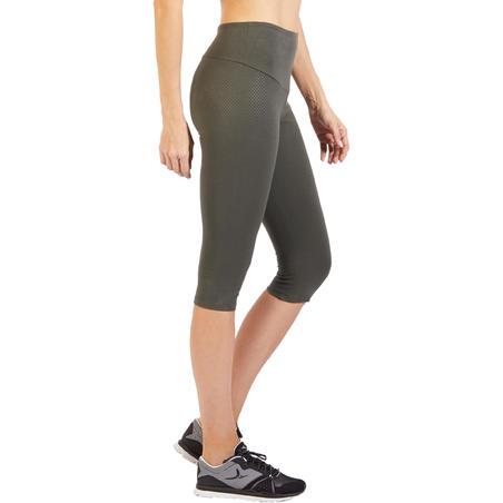 900 Women's Gym & Pilates Cropped Bottoms - Khaki