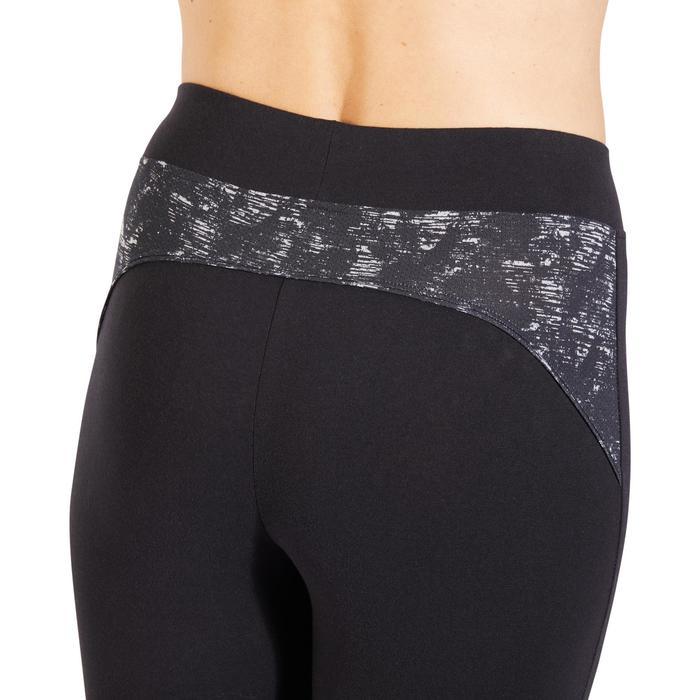 7/8-legging 510 pilates en lichte gym dames zwart
