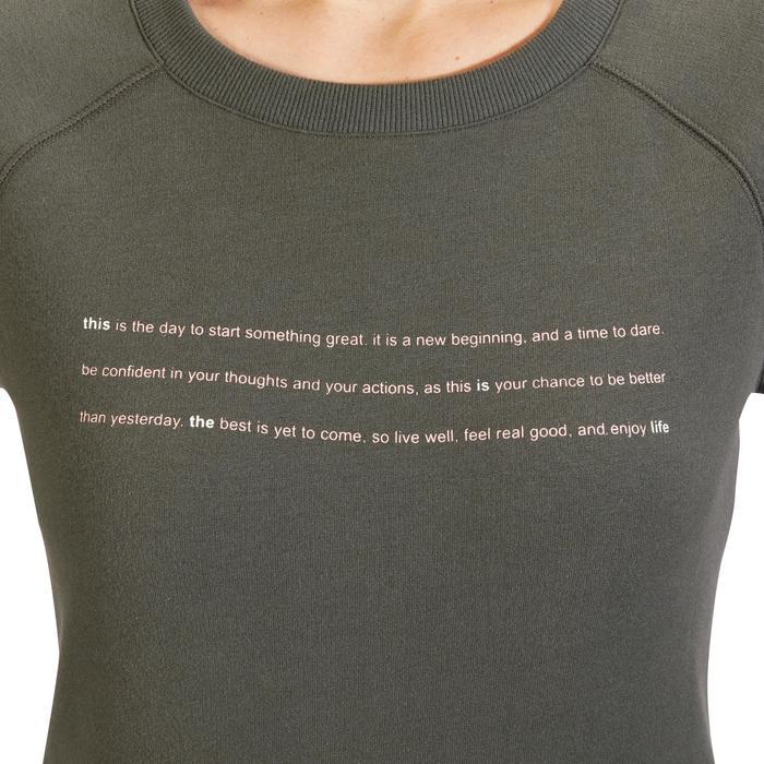 Sweat-shirt 100 Gym & Pilates Femme - 1318354