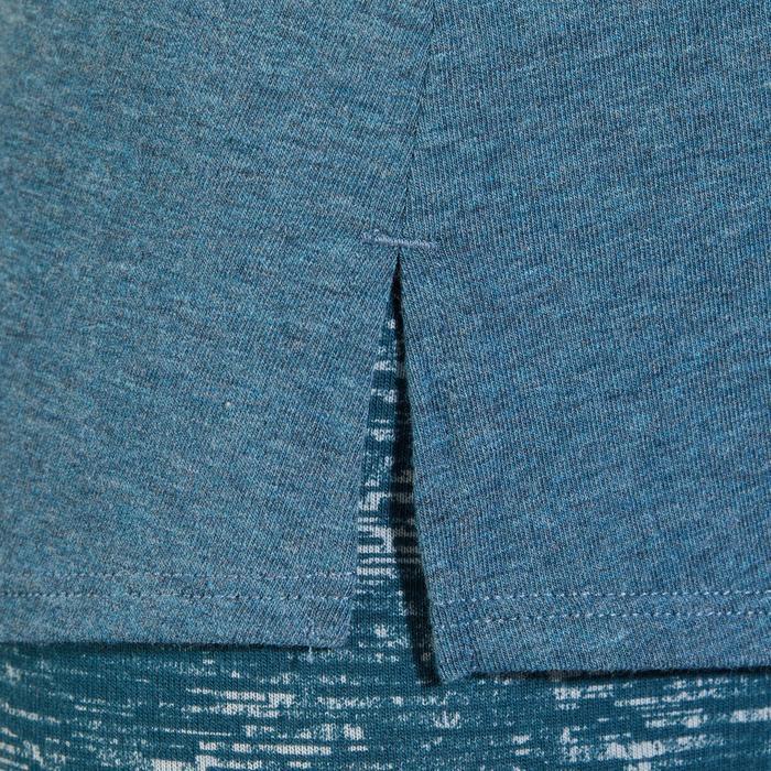 T-Shirt 520 manches courtes Gym & Pilates femme gris chiné clair - 1318358