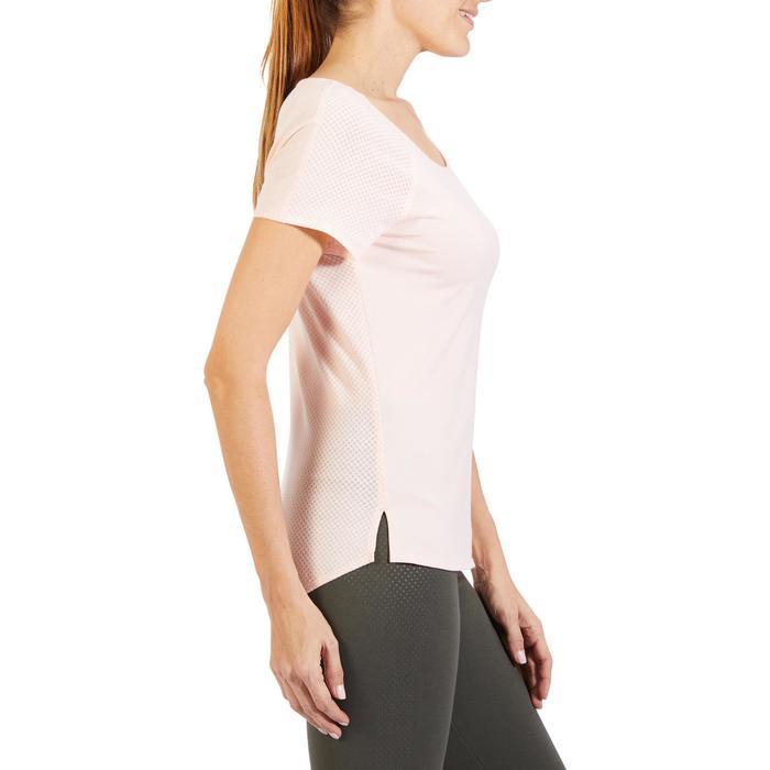 Camiseta 900 de manga corta de gimnasia y pilates mujer rosa