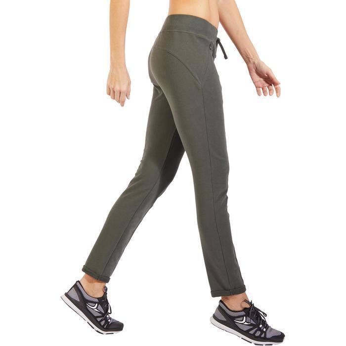 Damesbroek 920 voor gym en pilates, slim fit, kaki