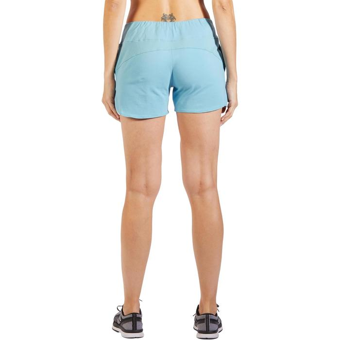 Damesshort 520 voor gym en pilates ijsblauw