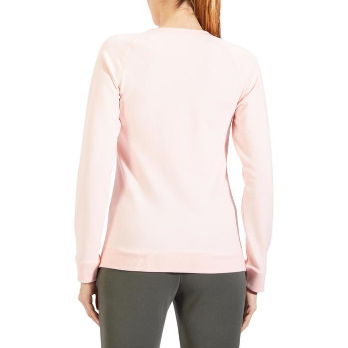 Sweater 500 pilates en lichte gym dames lichtroze