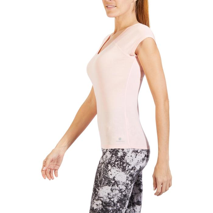 500 Women's Slim-Fit Stretching T-Shirt - Black - 1318400