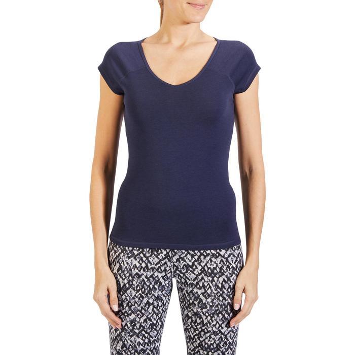 500 Women's Slim-Fit Stretching T-Shirt - Black - 1318403