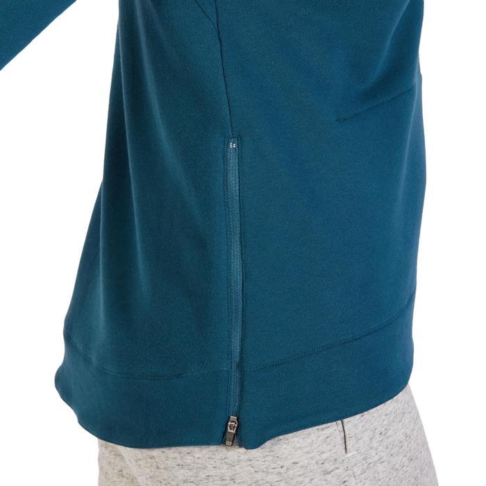 Sweat-shirt 900 Gym & Pilates Femme capuche bleu glacier - 1318430