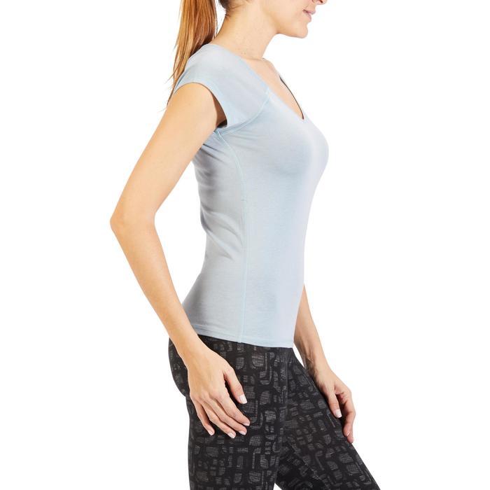 500 Women's Slim-Fit Stretching T-Shirt - Black - 1318432