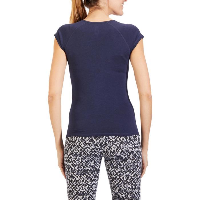 500 Women's Slim-Fit Stretching T-Shirt - Black - 1318433