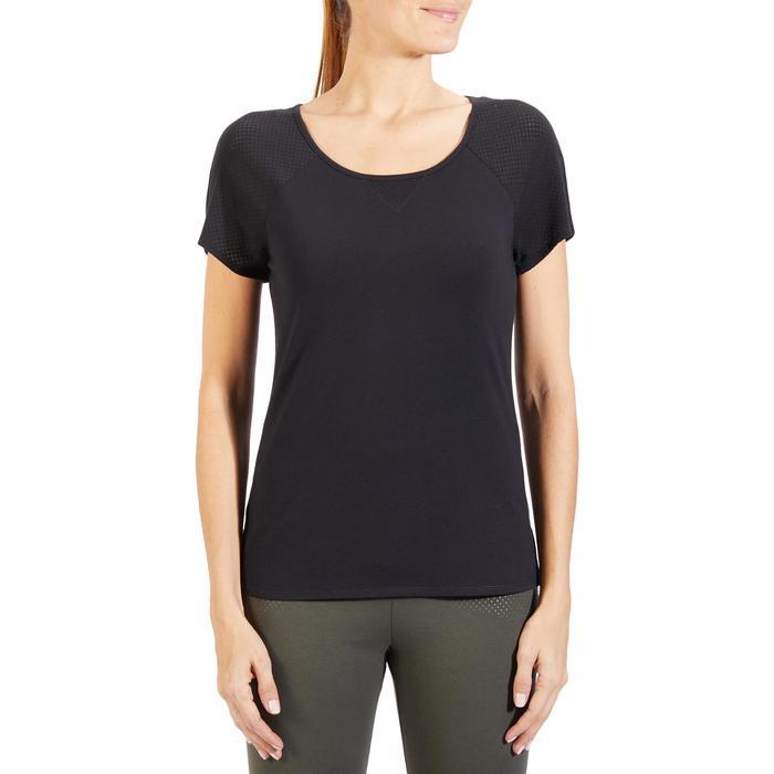 T-Shirt 900 manches courtes Gym & Pilates femme - 1318436