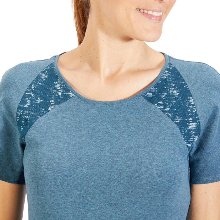 T-Shirt 520 manches courtes Gym & Pilates femme gris chiné clair - 1318440