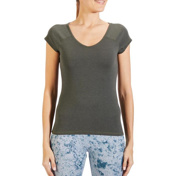 500 Women's Slim-Fit Stretching T-Shirt - Black - 1318444