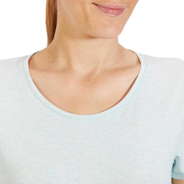 Camiseta Manga Corta Gimnasia Y Pilates Domyos 500 Regular Mujer Verde