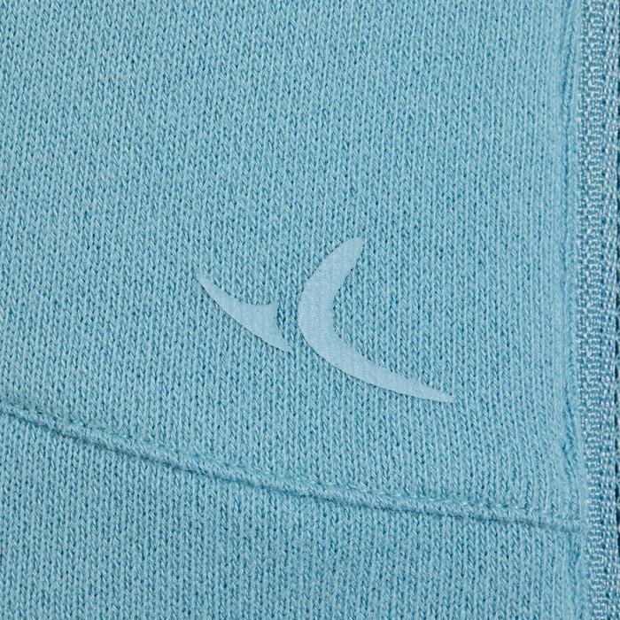 Sweat-shirt 900 Gym & Pilates Femme capuche bleu glacier - 1318447