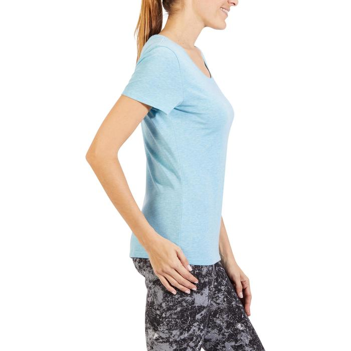 T-Shirt 500 régular manches courtes Gym & Pilates femme chiné - 1318453