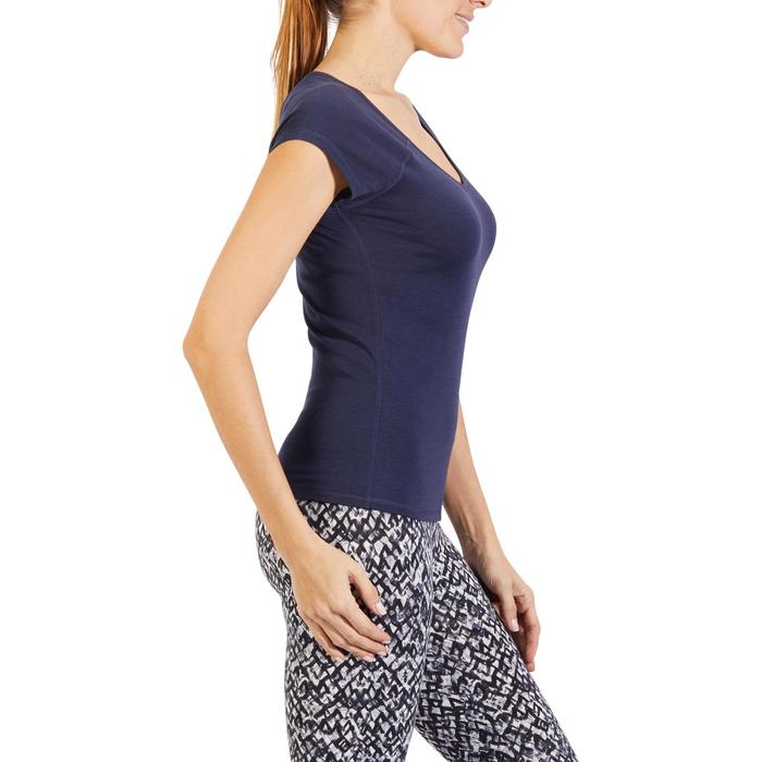 500 Women's Slim-Fit Stretching T-Shirt - Black - 1318455