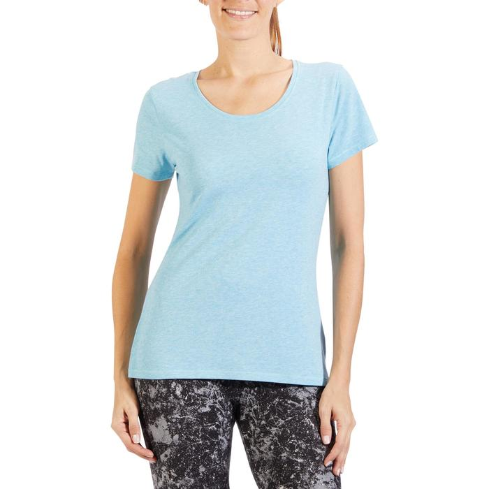 T-Shirt 500 régular manches courtes Gym & Pilates femme chiné - 1318456