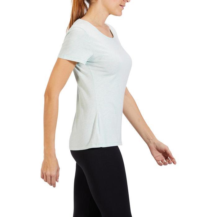T-Shirt 500 régular manches courtes Gym & Pilates femme chiné - 1318459