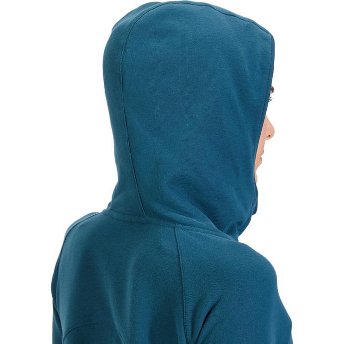 Sweat-shirt 900 Gym & Pilates Femme capuche bleu glacier - 1318461