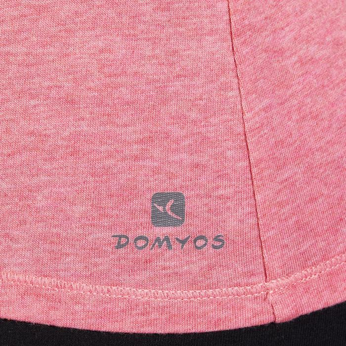 T-Shirt 500 régular manches courtes Gym & Pilates femme chiné - 1318469