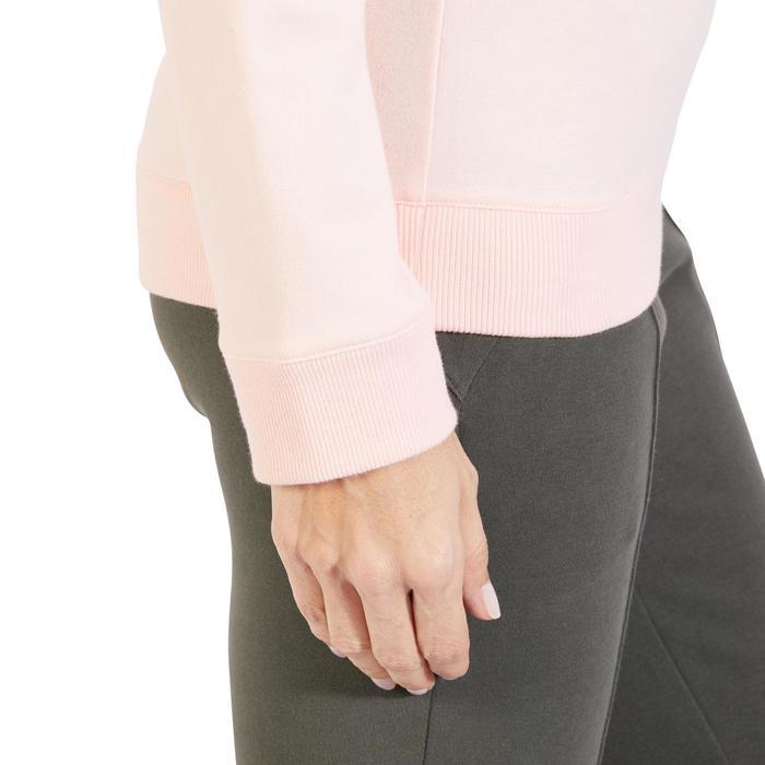 ed2bc8bb0d9aa Sudadera 500 Pilates y Gimnasia suave mujer rosa claro Domyos ...