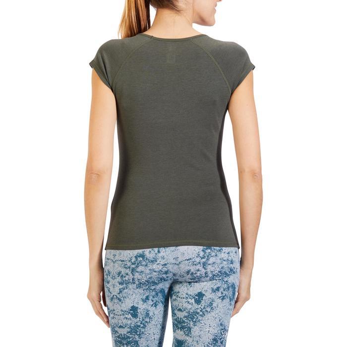 500 Women's Slim-Fit Stretching T-Shirt - Black - 1318480