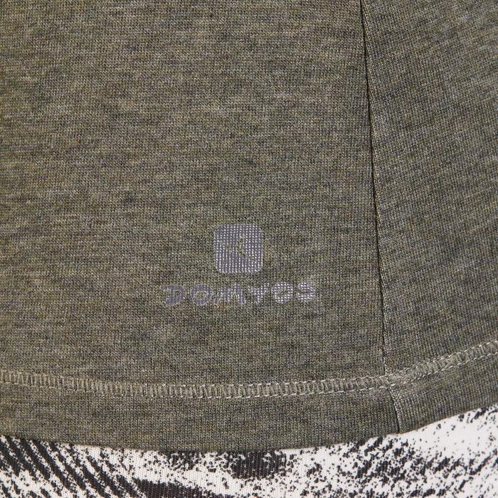 T-Shirt 500 Regular Gym Damen khakimeliert
